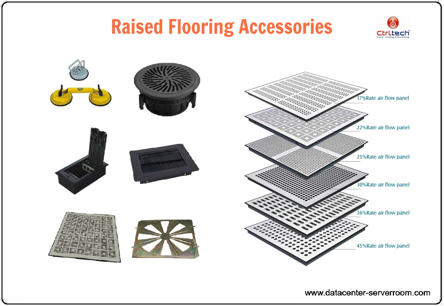 Floor Perforated Tiles Server Rooms : Raised floor data center server